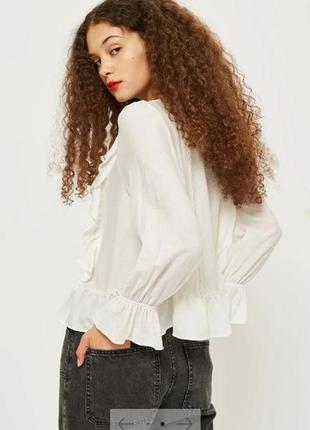 Блуза рубашка с воланами topshop4 фото