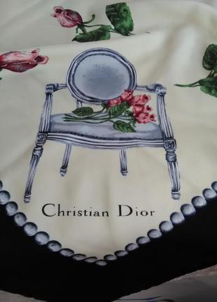 Шёлковый платок christian dior