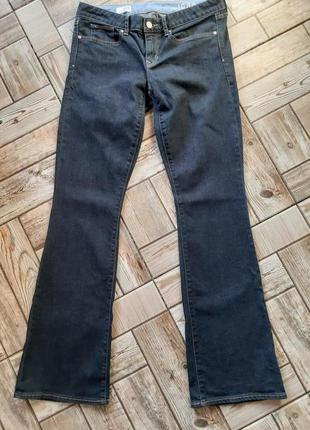 Женские широкие джинсы клеш gap