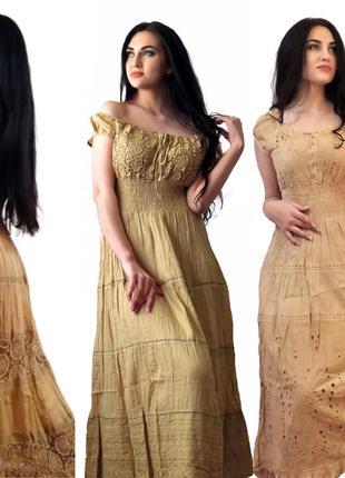 Хлопковые  платья и сарафаны. индия большие размеры