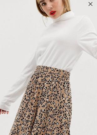 Актуальная леопардовая юбка дорогого бренда mbym