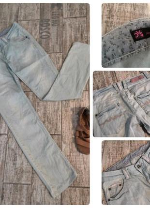 Ликвидация товара#светлые джинсы#прямые джинсы#низкая посадка#бойфренды#потертые#
