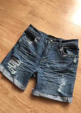 Шорты джинсовые рваные л-хл