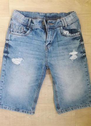 Джинсовые шорты на мальчика 13-15 лет