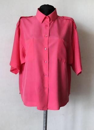Блуза рубашка bongenie grieder премиум бренд швейцария 100% шелк