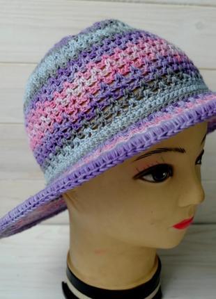 Шляпа летняя с полями 02