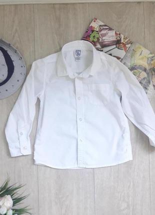 Белоснежная рубашка 4 года chicco