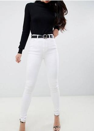 Белые джинсовые скинни denim co
