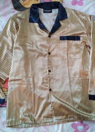 Шикарная шелковая пижама, 52-54, новая