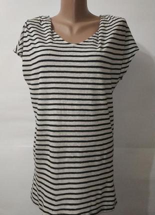 Футболка блуза натуральная фирменная льняная paul costelloe uk 10/38/s 100% лен!