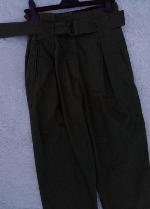 Бредовые шикарные коттоновые штанишки с высокой посадкой #sandro paris# раз. s