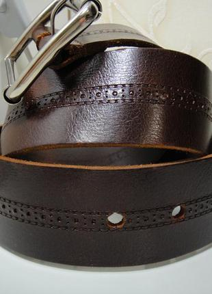 Итальянский кожаный мужской широкий (5см) ремень, пояс