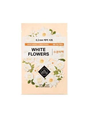 Тканевая маска для лица etude house white flowers