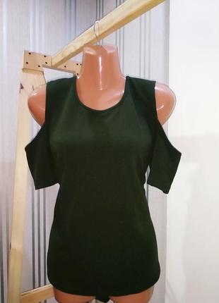 Мега стильная асиметричная футболка с откритими плечами