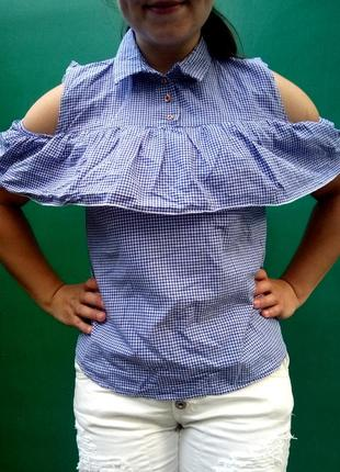 Стильна рубашка волан