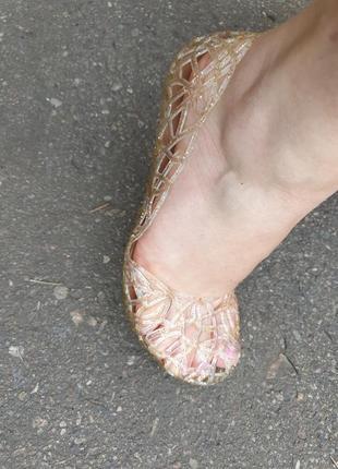 Резиновые стильные балетки силиконовые коралки