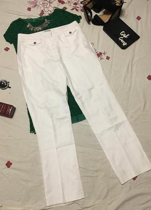 Стильные брюки джинсы на лето с карманами из льна