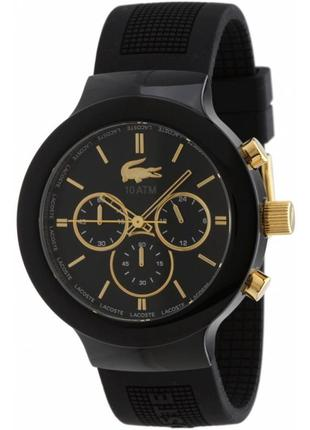 Часы lacoste borneo chrono black gold (оригинал)