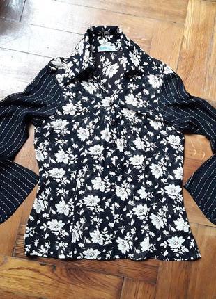 Блуза с расклешенным рукавом, s.