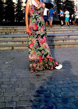 Тренд !сарафан в цветочный принт с рюшами
