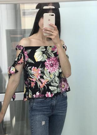 Топ, блуза в цветочный принт