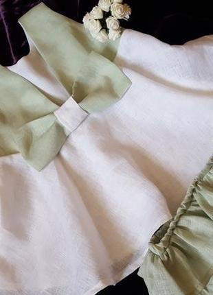 Льняное платье с трусишками размер 86