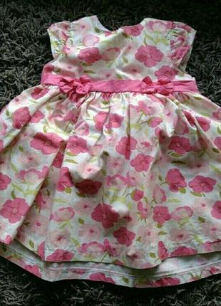 Платье сарафан летнее хлопок х/б 68см 6 месяцев из хлопка zip zap zip-zap