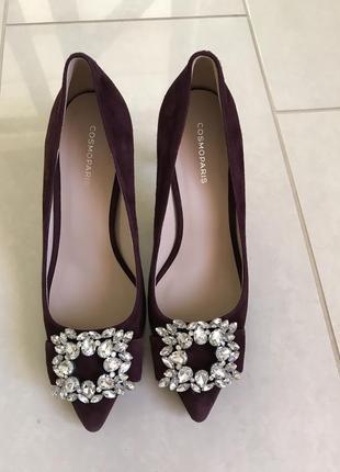 Туфли кожаные стильные модные дорогой бренд cosmoparis рахмер 38-39