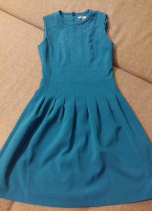 Классное платье берюзового цвета в стиле бейби-дол