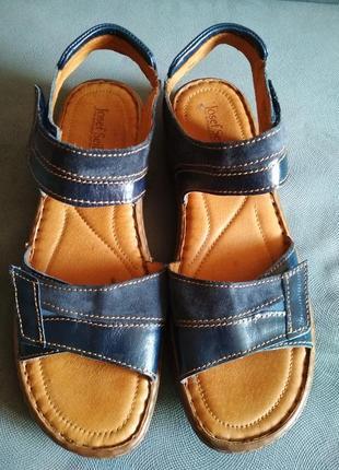Босоніжки josef seibel, босоножки кожаные, сандали, шкіряні сандалі