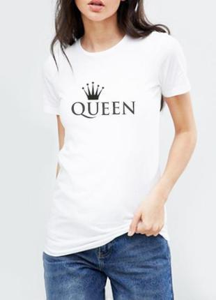 Футболка белая queen 100% хлопок испания размеры