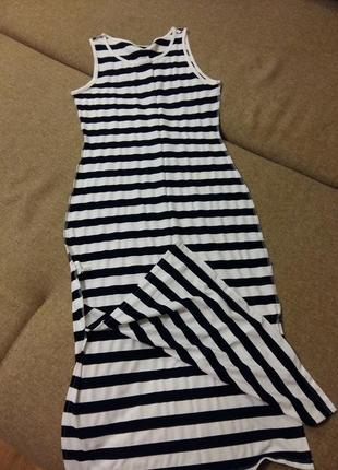 Классный удлененный платье-сарафан