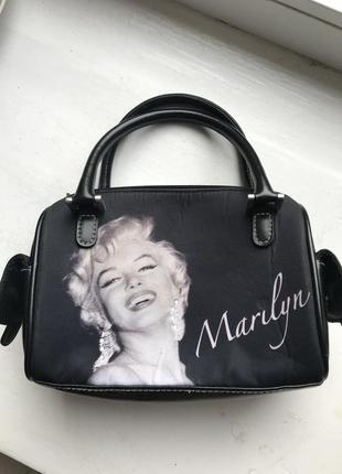 Сумочка маленькая клатч косметичка marilyn monro