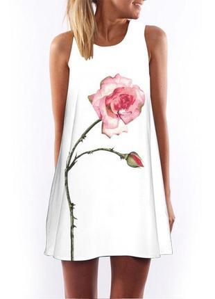 Новое милейшее платье в 5д цветочный принт
