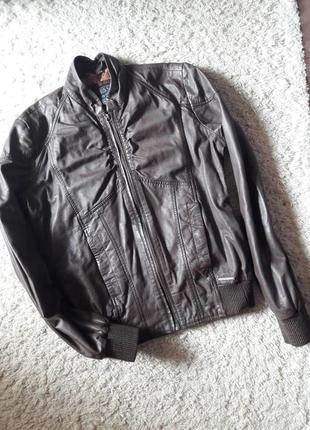 Куртка кожаная бомбер