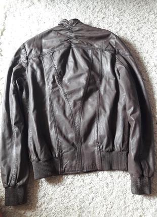 Куртка кожаная бомбер2 фото