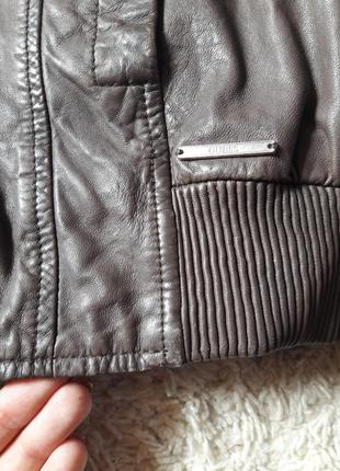 Куртка кожаная бомбер6 фото
