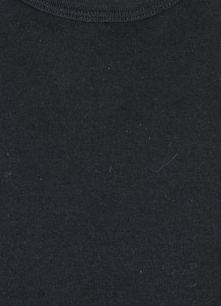 Однотонная футболка черная, оверсайз футболка однотонная черная2 фото