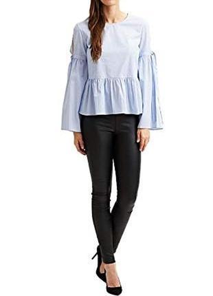 Летняя трендовая блуза в полоску vila clothes