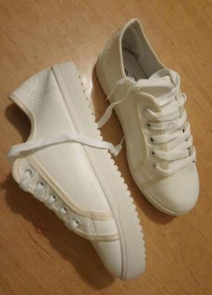 Классные белые кеды! по супер-цене