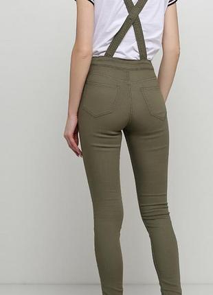 Новый женский джинсовый комбинезон цвета хаки h&m6 фото