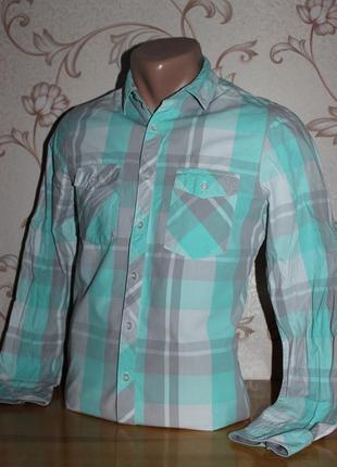 Рубашка мужская. размер xs (смотрите замеры). в отличном состоянии! sc.