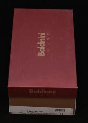 Балетки baldinini trend (италия), серебристого цвета.4 фото