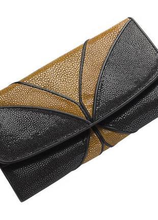 Кошелек женский ekzotic leather из натуральной кожи морского ската (stw 113_1)