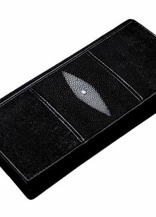 Кошелек из ската ekzotic leather черный (stw 29)