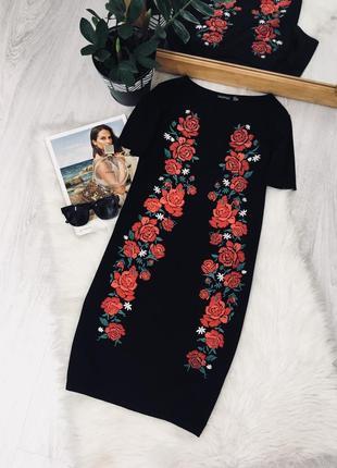 Плаття з вишивкою від boohoo🖤🖤🖤