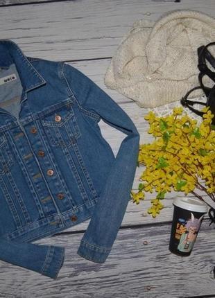 8/36/s обалденный фирменный джинсовый пиджак курточка topshop топшоп1 фото
