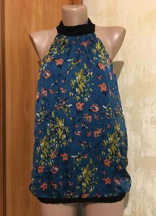 Шёлковая блуза в принт zara!!