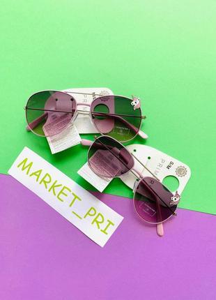 Стильные детские очки для девочек с единорогами