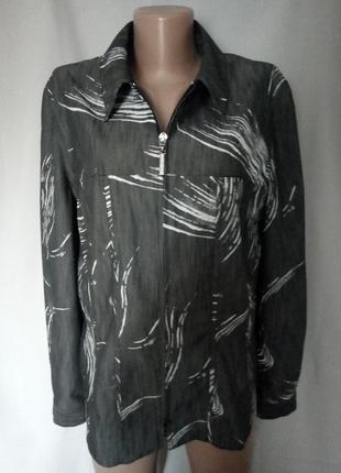 Легкий летний жакет, куртка с оригинальным принтом.  №1gb